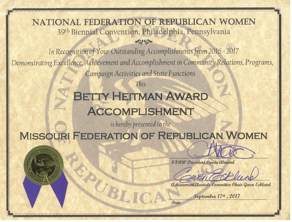 Betty Heitman Award